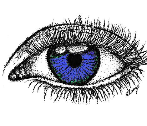 Hazel Eyes fabric by sweetkdesigngallery on Spoonflower - custom fabric