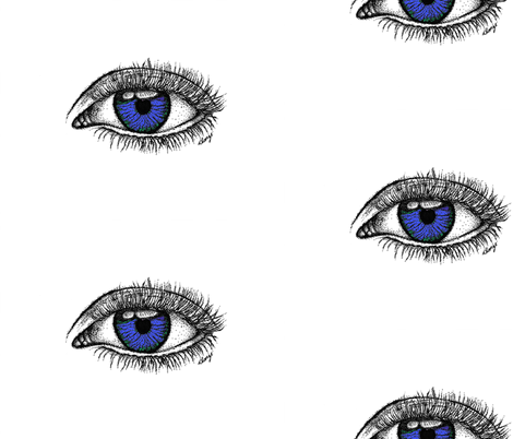 Hazel Eyes fabric by sweetkdesigngallery on Spoonflower - custom fabric
