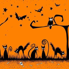 Halloween Vintage Cats