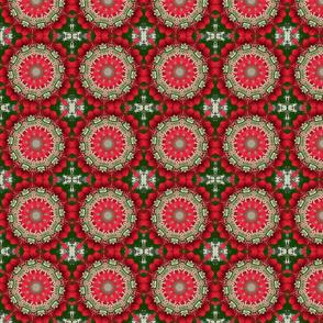 Red Floral Pinwheels 2318