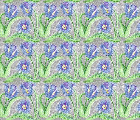 blue_tulip fabric by katawampus on Spoonflower - custom fabric