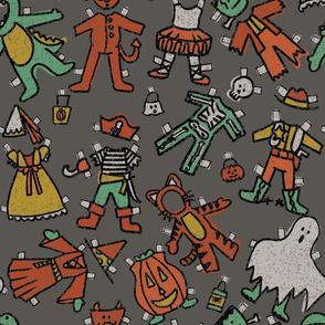 Vintage Halloween Paper Dolls