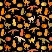 Ravens Cats Pumpkins - Vintage Halloween