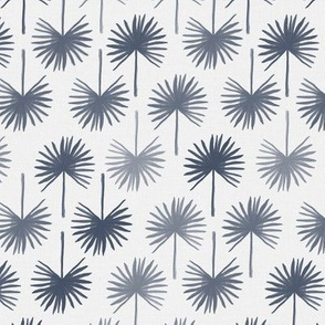 palm tree leaves pattern in indigo