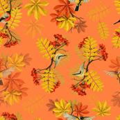 birds of autumn (peach)