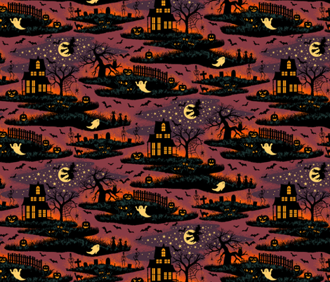 Magical Halloween Night - Small Scale fabric by byre_wilde on Spoonflower - custom fabric
