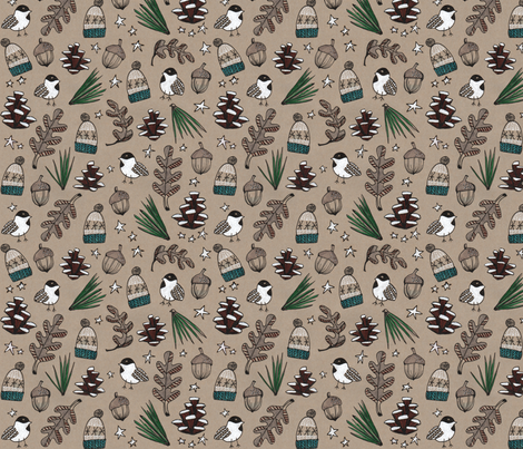 Northwoods Knitty fabric by mightywooly on Spoonflower - custom fabric