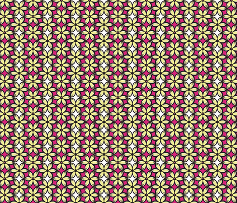 Blooms on raspberry fabric by lovelyleisure on Spoonflower - custom fabric