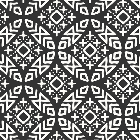 (small scale) modern moroccan  fabric by littlearrowdesign on Spoonflower - custom fabric