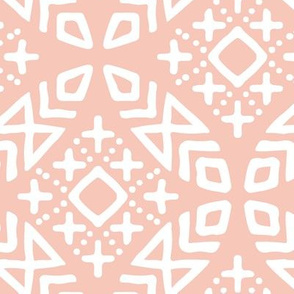 modern moroccan in salmon peach