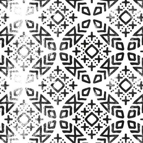 (small scale) modern moroccan distressed fabric by littlearrowdesign on Spoonflower - custom fabric