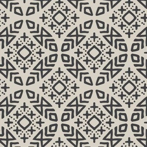 (small scale) modern moroccan (beige/charcoal)