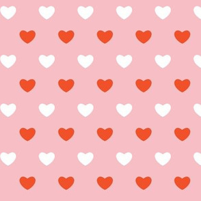 Hearts - Pink & Orange - Large