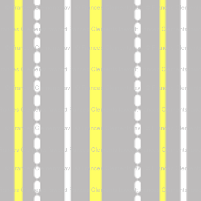 "More Meow ""Purrfect Stripes"" :  Cool Gray with Buttery Yellow and White"