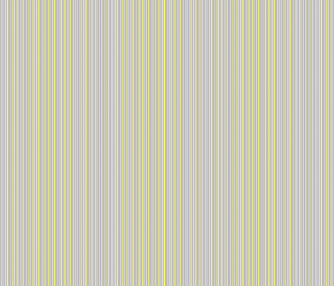 "More Meow ""Purrfect Stripes"" :  Cool Gray with Buttery Yellow and White  fabric by francescfawcett on Spoonflower - custom fabric"
