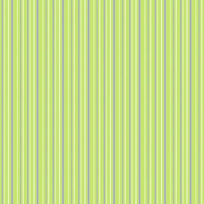 "More Meow ""Purrfect Stripes"" :   Light Grass Green with Violet Purple and White"