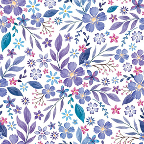 Ditsy Floral Purple