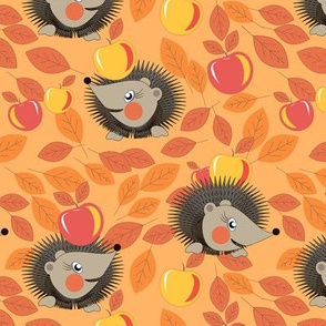 hedgehogs and apples