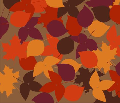 festive_fall_leaves fabric by ecs-designs on Spoonflower - custom fabric