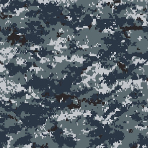 Navy Blue Digital Camo NWU