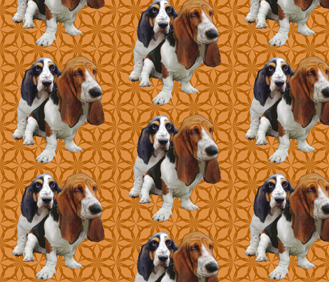 basset hounds two fabric by dogdaze_ on Spoonflower - custom fabric