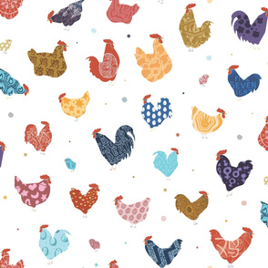 Year of the Rooster - Bed sheet Size