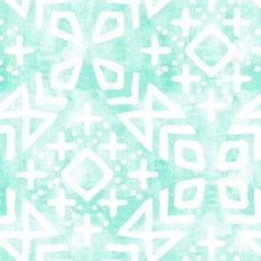 modern moroccan on light mint