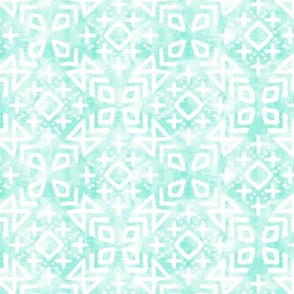 (small scale) modern moroccan on light mint