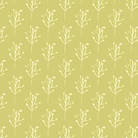 17 16e Olive Green Watercolor Branch Abstract Floral