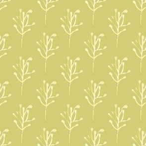 Olive green watercolor  branch || Abstract floral Flower Tree chartreuse