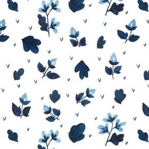 Blooming meadows - blue flowers
