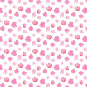 Pink Coral Abstract Watercolor || white spots drops dots pastel || abstract _ Miss Chiff Designs