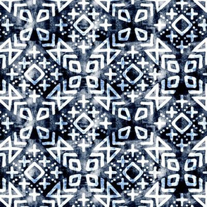 (small scale) modern moroccan on navy