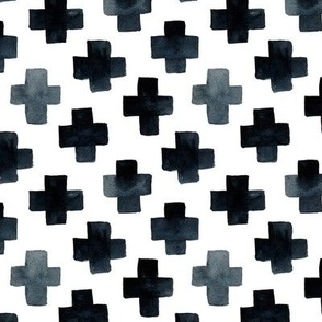 Black Cross Pattern