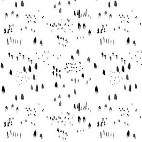 Abstract Minimal Brush Stroke Pattern
