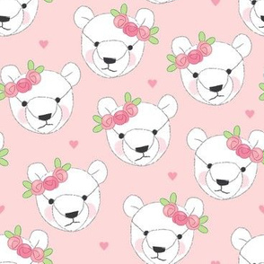 teddy-bear-faces-white-with-rosebuds