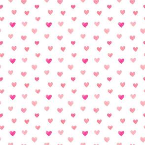 Minimal Watercolor Heart Pattern