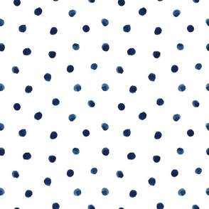 Small Watercolor Polka Dot in Indigo