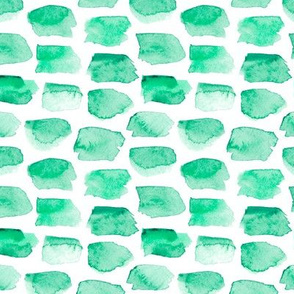 Watercolor Blocks in Emerald Green