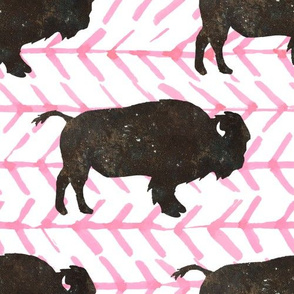 """10"""" Buffalo with Light Pink Arrows"""