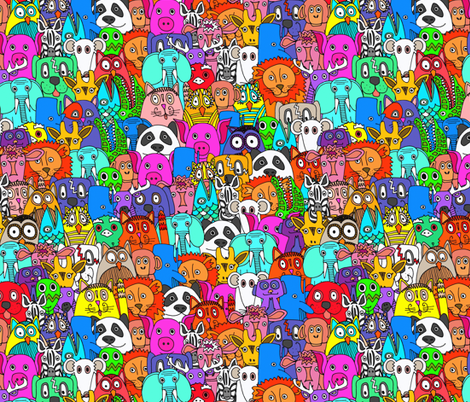 plushies neon fabric by scrummy on Spoonflower - custom fabric