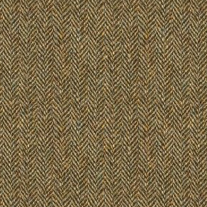 faux tweedy oak-brown herringbone