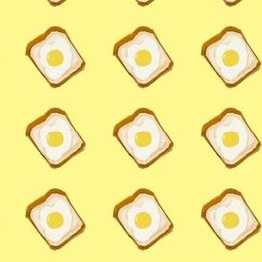 egg toast yellow