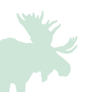 mint moose pillow panel