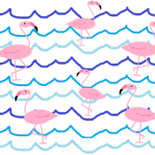 Frollicking flamingos