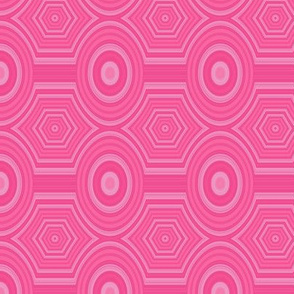 Hot Pink Oval Geometric