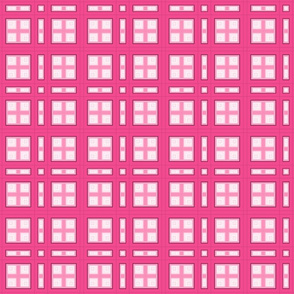 Hot Pink Squares Plaid