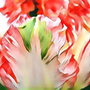 green accent tulip