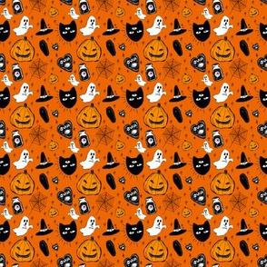 halloween doodle orange (tiny)