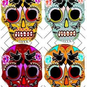 Sugar Skulls De  Los Muertos